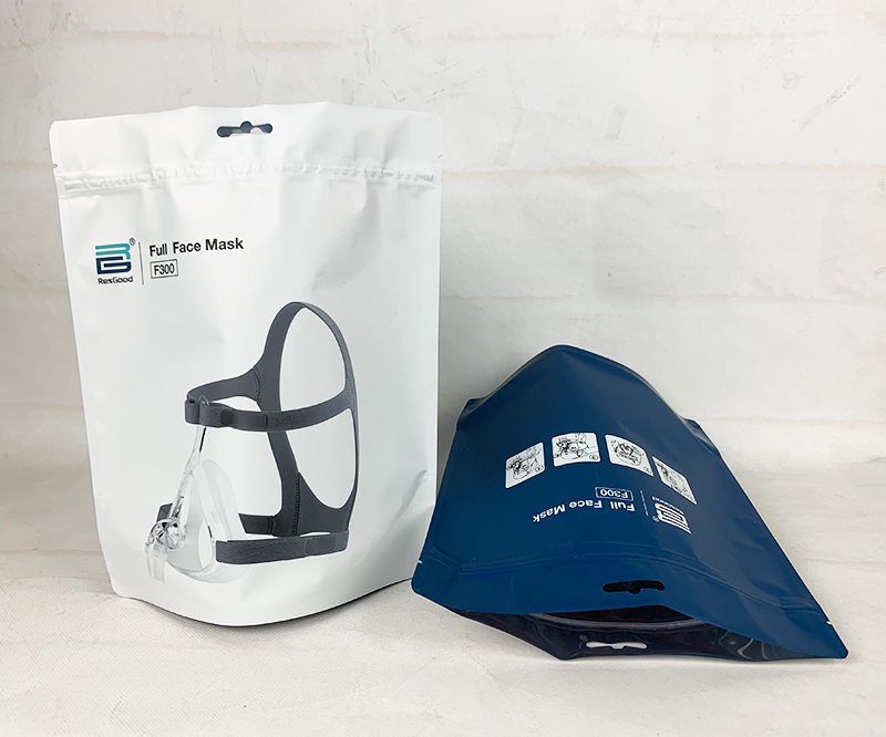 Self supporting zipper medical mask mask packaging bag